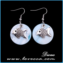 High Quality Women Jewelry Cute Goldfish Shaped Stud Earring Platinum Plated Silver Earring Pendant Special Gift