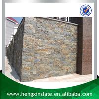 Factory Direct Cheap Handmade Random Shape 60*15*2cm Rusty Exterior Decorative Cultural Slate Wall Cladding Wall Panel Tile
