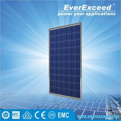 EverExceed 285w Polycrystalline Solar Panel certificated by TUV/VDE/CE/IEC for grid-on/off solar system