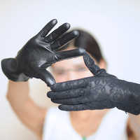 Professional Black Lace Gloves, Sexy Black Lace Gloves for Women