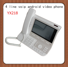 Android OS 2.1 video voip phone , 7 inch voip touch screen video IP phones, HD voice 4 sip line ip phone support PSTN