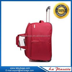 designer custom durable waterproof travel gym duffel bag with trolley