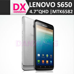 support paypal and western union china lenovo s650 smartphone 1GB 8GB 8.0MP Dual Cam QHD screen MTK6582 Quad Core 1.3GHz Android