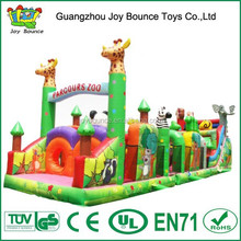 giant adutls inflatable obstacle course,animal zoo new inflatable obstacle