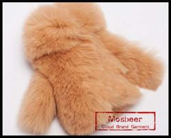 Lovely Coat Shaped Real Rex Rabbit Fur Key Bag Charm For Girl Key Holders Genuine Fur