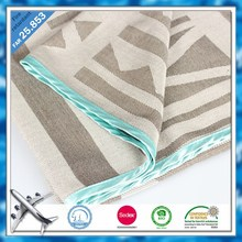 10 Years Experience Fire Retardant Airline Blanket Modacrylic Airline Jacquard Blanket