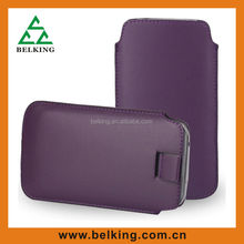 PU flip leather flap leather case For Samsung cell phones pouch
