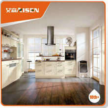 With 9 years experience factory directly house use silvery gray kitchen cabinet