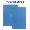 OEM service 2 Folding Litchi Texture flip cover for ipad mini 4 tablet case