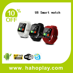 Bluetooth Smart Watch U8 Watch Wrist Smartwatch For Iphone 4 4s 5 5s 6 6 Plus Samsung S4 S5 Note 2 Note 3 Android Phone