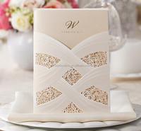 Victorian Style Romantic Elegant Laser Cut Wedding Invitations Wrap