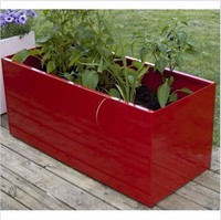 Giant Bright Color Outdoor Metal Garden Flower Pots and Planter