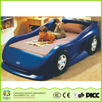 China Factory Price Handmade Children Furniture Car Bed Kids Plastic Race Car Shape Beds For Boys