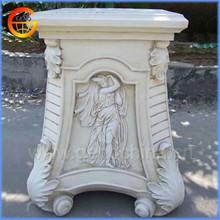 Home and garden fiberstone column for flower pot