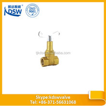 brass inside screw non-rising stem gate valve