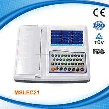 MSLEC21W ISO CE 12 Channel Digital Portable EKG Machines/ECG Machine