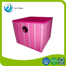 new product oblong striped printing Oxford living room animal storage bin