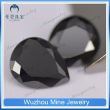 European cut loose Cubic Zirconia rough gemstone black cz aaaaa pear