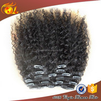 Natural color one piece full head clip in hair extensions,afro clip in hair extension