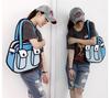 Fashion Korean Style 3D hand bag Comic Cartoon, Nylon 2D Cartoon lady hand bag