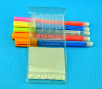 clear PVC packing pouch for pen, top quality electronics packing pouch