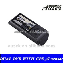 2.7''LCD Front Lens 140 Degrees Back Lens 120 Degrees Dvr Car with GPS