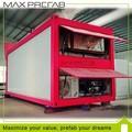 fácil de instalar y de bajo coste prefabricada casa plegable contenedor