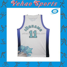 dry fit custom sublimated polyester popular cheap jersey basketball