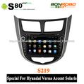 pantalla capacitiva dvd gps especial para hyundai verna solaris 3g radio bluetooth + adaptador wifi