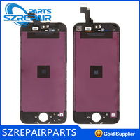 phone digitizer and lcd front glass for iphone 5, reparation for iphone 5 lcd