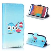 Owl Pattern Wallet Style PU Leather Fancy Cover for Samsung Galaxy Note 3 Case