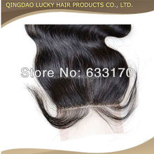 Factory price cheap lace closure piece remy lace front closure with baby hair in stock