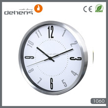 decorative elegant design aluminum wall clock