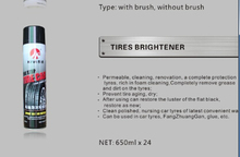 high quality black and yellow shining foam tire dressing applicator