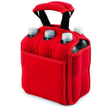 Neoprene 6pack wine bottle tote bag
