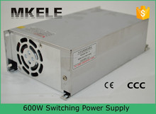 S-600-12 12v 600w 50a switching model power supply 220v 12v 50a single output ac dc 12vdc 50 amp power supply