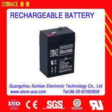 Led Battery 6v 4ah rechargeable lead acid battery