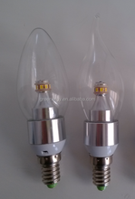 Wholesale china e14 led candle light 4W 5W clear Glass LED bulb Lightting for Chandelier