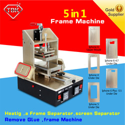 Factory direct sales 5 in 1 lcd repair machine pre-heating glass removing glue removing frame press remove for iphone samsung