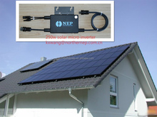 home small pv system used solar grid tied microinverters