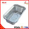 Disposable High Quality Oblong Food Grade Aluminum Foil Container No6 With Lid