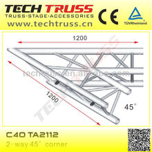 C40-TA2112 length 1200mm, 2-way 45 degree truss junctions for setting up outdoor tent