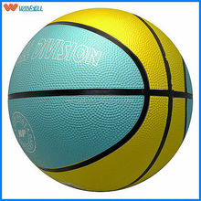 2015 newest promotional cheap price with good quality rubber basketball size 7