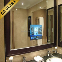bedroom newly designed digital magic Lcd mirror TV EB GLASS BRAND