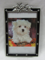 Rectangular Metal Alloy Picture Photo Frame for Pet Dog