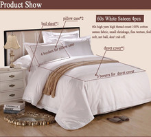 Luxury brand king size satin bedding set for 5 star hotel