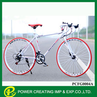 26'' 21 speed disc brake colourful fixed gear bike city road bike derailleur track bike