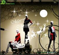 Beautiful Designs Window Tree Vinyl Christmas Sticker christmas removable window jellies sticker christmas decorations BGSY1037
