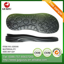 latest pu flat men dress shoe sole