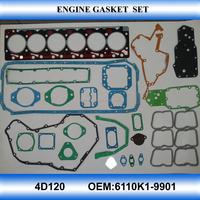 For KOMATSU 4D120 engine gasket kit engine gasket set full set